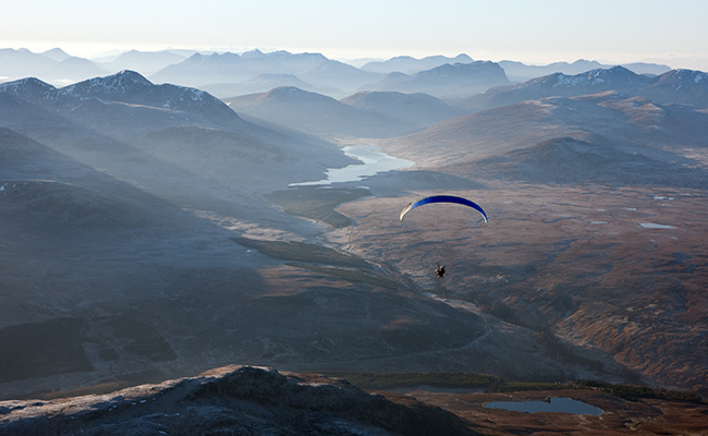 paragliding - things to do dollar, clackmannanshire